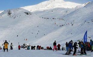 Vue de pistes de ski de la station des Menuires