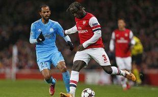 Bacary Sagna lors du match entre Arsenal et Marseille le 26 novembre 2013.