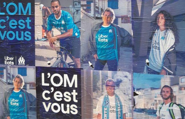 Marseille: Uber Eats s'offre un affichage sauvage sur l'OM... La mairie promet «une amende maximum»
