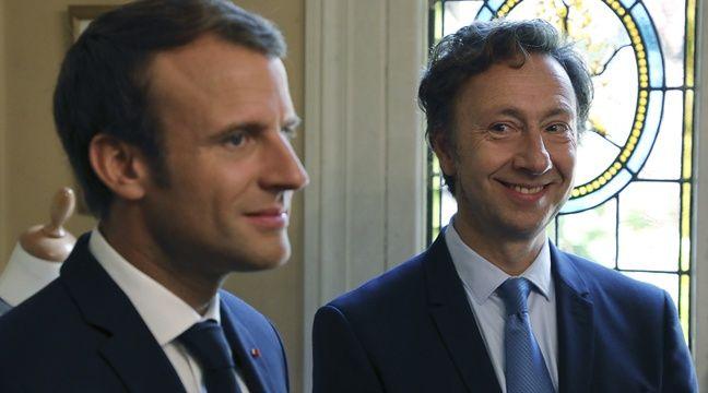 Emmanuel Macron et Stéphane Bern visitent le château de Monte-Cristo (Yvelines) lors des Journées européennes du Patrimoine, le 16 septembre 2017. – LUDOVIC MARIN / POOL / AFP