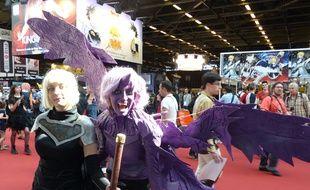 Des cosplayeurs à la Japan Expo, au Parc des Expositions, à Villepinte, le 2 juillet 2014.
