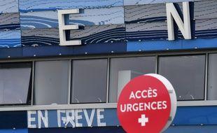 Un hôpital en grève. (illustration)