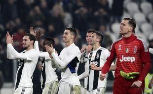 Cristiano Ronaldo et ses coéquipiers de la Juve