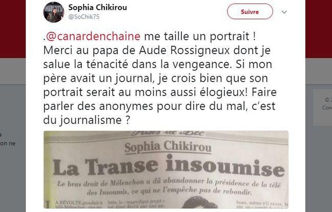 Le tweet de Sophia Chikirou