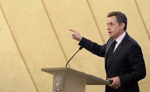 Nicolas Sarkozy à Fessenheim, le 9 février 2012.