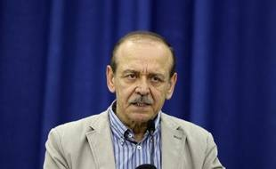 Yasser Abed Rabbo, secrétaire général de l'Organisation de libération de la Palestine (OLP), lors d'une conférence de presse à Ramallah le 29 juillet 2014