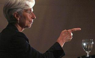 Christine Lagarde lors d'une conférence de presse au Brésil pour promouvoir sa candidature à la tête du FMI le 30 mai 2011.