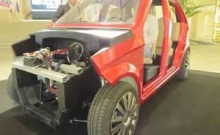 Le prototype de la voiture électrique Ampool, projet développé en Aquitaine