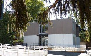 Lyon, le 4 septembre 2017. En ce jour de rentrée, l'école Joannes Masset, aménagée dans des bâtiments modulaires, a accueilli ses premiers élèves dans le quartier de Vaise.