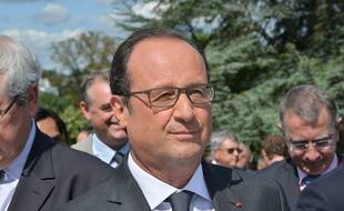 François Hollande à La Celle Saint Cloud le 28 août 2015.