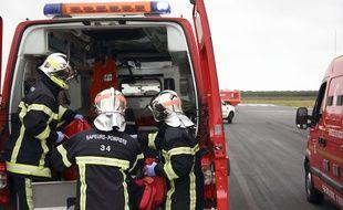 Des pompiers lors d'un exercice de secours (Illustration)