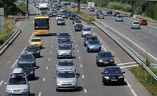 Trafic sur l'autoroute A61 entre Toulouse et Narbonne, en août 2012.