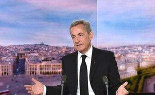 L'ancien président de la République, Nicolas Sarkozy, invité du 20 heures de TF1 le 27 juillet 2020.