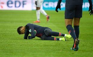 Neymar a subi une nouvelle blessure au pied droit contre Strasbourg, en janvier 2019.
