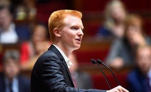 Adrien Quatennens, député de la France insoumise, lors d'un débat à l'Assemblée nationale, le 10 juillet 2017.