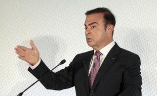 Carlos Ghosn, le 12 février 2015 à Boulogne-Billancourt lors ela présentation des résultats 2014 de Renault