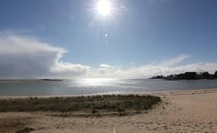 La plage du Men Du, à La Trinité-sur-Mer, dans le Morbihan.
