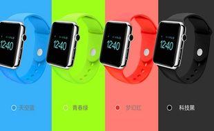 Des modèles contrefaits d'Apple Watch.