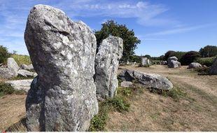 Les mégalithes D'Erdeven, dans le Morbihan.