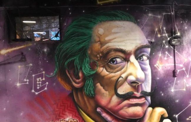Une oeuvre du festival international de street art, Peinture Fraiche