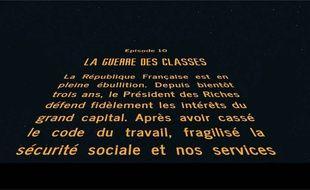 """Le célèbre générique de """"Star Wars"""" parodié par l'élu communiste."""