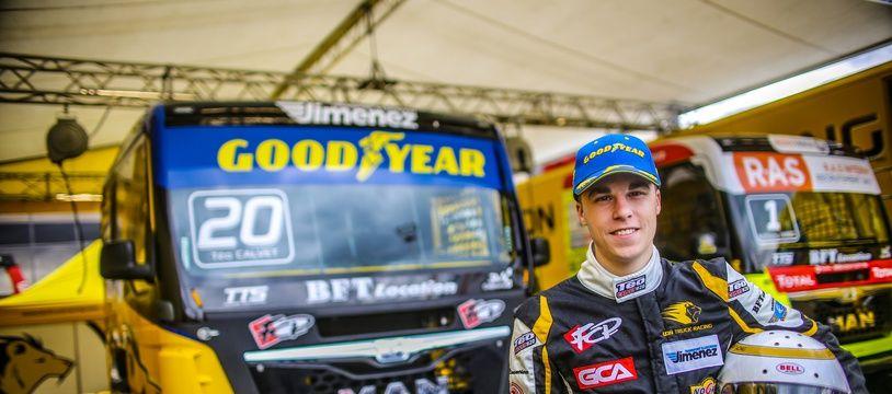 A 18 ans à peine, le Toulousain Téo Calvet est déjà l'un des cadors de la course de camions en France.