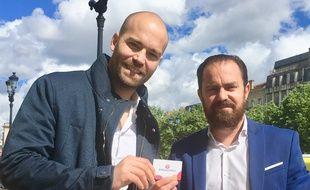 Yann Pinoges (à gauche) et David Rauly ont lancé un pass proposant des bons plans à Bordeaux.
