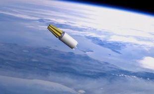 Vidéo en images de synthèse d'un nouveau missile nucléaire russe, dévoilé le 1er mars 2018.