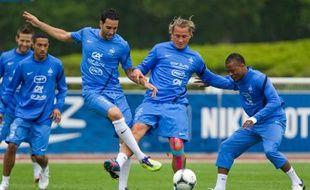 Le groupe France s'entraine en vue de l'Euro 2012 et en vue du match amical joué à Valenciennes contre l'Islande le 27 mai 2012.