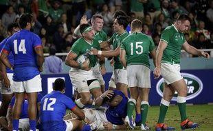 Les Irlandais face aux Samoans
