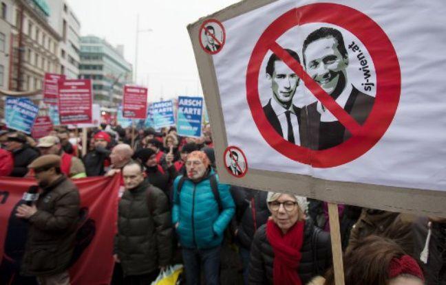 Autriche: Quelque 20.000 manifestants dans les rues de Vienne contre la coalition droite/extrême droite au pouvoir Nouvel Ordre Mondial, Nouvel Ordre Mondial Actualit�, Nouvel Ordre Mondial illuminati
