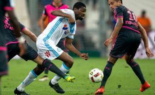 Abou Diaby lors du match entre l'OM et Toulouse le 14 août 2016.