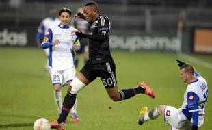 Anthony Martial, ici sous le maillot lyonnais face au Kiryat Shmona en Ligue Europa, le 6 décembre 2012.