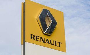 Le logo du groupe automobile français Renault.