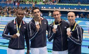 Les médaillés français sur 4x100 mètres