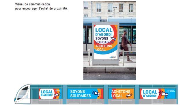 Le visuel de la campagne de communication pour acheter local.