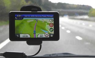 Un navigateur GPS. Illustration.