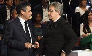 Jean-Luc Mélenchon et François Fillon