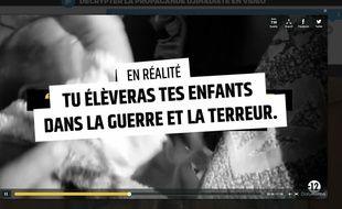 Capture d'écran du site Stop-djihadisme.gouv.fr.