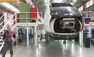 L'usine TGV Alstom de Belfort.