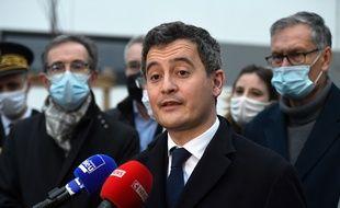 Gérald Darmanin à Bourgoin Jallieu le 27 janvier 2021.