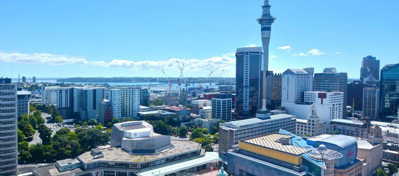 La baie d'Auckland, en Nouvelle-Zélande