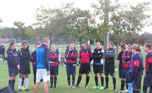 Les Girondines à l'entraînement au Taillan, le 6 octobre 2015.