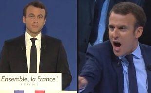 Emmanuel Macron président vs. Emmanuel Macron candidat.