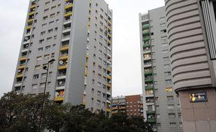 Des immeubles du quartier Mistral, à Grenoble, le 12 octobre 2010.