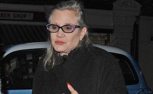L'actrice Carrie Fisher à la Chiltern Firehouse de Londres en décembre 2016