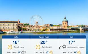 Météo Toulouse: Prévisions du mardi 28 septembre 2021