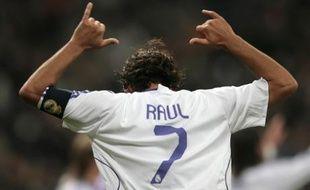 Raúl, le capitaine et buteur du Real Madrid, le 10 janvier 2008 face à Valladolid.