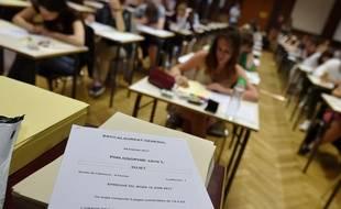 Le 15 juin 2017, lors de l'épreuve de philosophie dans un lycée de Strasbourg. AFP PHOTO / FREDERICK FLORIN