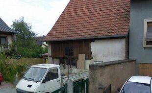 Le corps était dans une dépendance de la maison à Dettwiller. Capture d'écran Google Street view